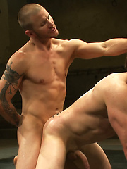 Two big-dicked muscle studs fight for total domination of the mat and the right to fuck their opponents ass in sweet victory., Added: 2011-09-06 by Naked Kombat