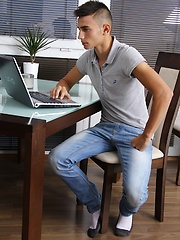 Sexy Mario Fedele strokes cock on the breakfast table., Added: 2014-04-19 by EuroboyXXX