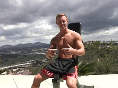 Muscle jock Mac jacking off dick, Added: 2014-12-11 by JizzAddiction