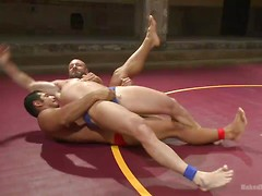 "OILED MUSCLE: Mitch ""The Machine"" Vaughn vs Marcus ""Titan"" Ruhl, Added: 2014-12-11 by Naked Kombat"