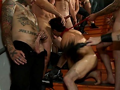 Relentlessly flogged, drenched in cum and tickled to the extreme!, Added: 2015-08-25 by Bound in Public