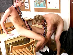 Schoolboy Connor Levi gets fucked raw over a desk by his horny, well-hung classmate!, Added: 2015-08-26 by Auntie Bob