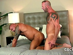 Vic Rocco and Jon Galt Bareback, Added: 2015-08-26 by Cocksure Men